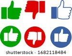 good bad sign icon set | Shutterstock .eps vector #1682118484