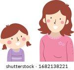 illustration of a kid girl...   Shutterstock .eps vector #1682138221