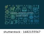 user generated content outline... | Shutterstock .eps vector #1682155567
