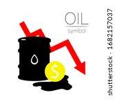 vector sign of oil. statistics... | Shutterstock .eps vector #1682157037