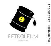 vector sign of oil. black... | Shutterstock .eps vector #1682157121