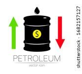 vector sign of oil. statistics... | Shutterstock .eps vector #1682157127