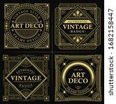 gold square art deco vector...   Shutterstock .eps vector #1682158447