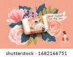 horizontal cosmetics template... | Shutterstock .eps vector #1682166751