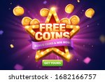free coins pop up ads with... | Shutterstock .eps vector #1682166757