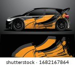 rally car decal graphic wrap...   Shutterstock .eps vector #1682167864