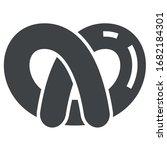 pretzel black icon on white...   Shutterstock .eps vector #1682184301