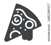 pizza black icon on white...   Shutterstock .eps vector #1682189317