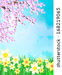 spring background | Shutterstock . vector #168219065