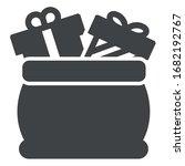 cristmas presents black icon...   Shutterstock .eps vector #1682192767