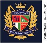 heraldic shield crest... | Shutterstock .eps vector #1682210704