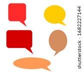 blank speech bubbles set with... | Shutterstock .eps vector #1682227144
