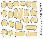 hand drawn speech bubble vector ...   Shutterstock .eps vector #1682239747