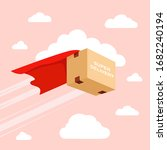 flying package delivery.... | Shutterstock .eps vector #1682240194