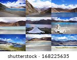 a collection of photos of... | Shutterstock . vector #168225635