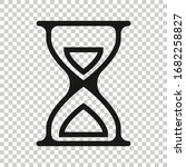 hourglass icon in flat style....   Shutterstock .eps vector #1682258827