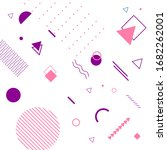 vector simple memphis geometric ...   Shutterstock .eps vector #1682262001