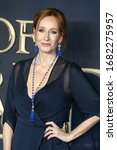 """Small photo of London, United Kingdom- November 13, 2018: J. K. Rowling attends the """"Fantastic Beasts: The Crimes Of Grindelwald"""" UK Premiere at Cineworld Leicester Square in London, UK."""