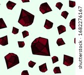 red crystals and rubies on a... | Shutterstock .eps vector #1682276167