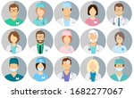 avatar doctors. medical staff   ... | Shutterstock .eps vector #1682277067