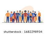 diverse crowd of people of... | Shutterstock .eps vector #1682298934