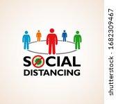 social distancing  people... | Shutterstock .eps vector #1682309467