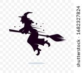 witch vector silhouette logo... | Shutterstock .eps vector #1682327824