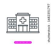 hospital line icon vector... | Shutterstock .eps vector #1682351797