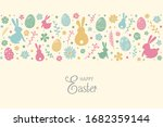 easter greeting card with... | Shutterstock .eps vector #1682359144