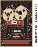 retro reel tape recorder old... | Shutterstock .eps vector #1682376994