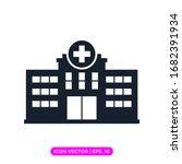 hospital flat icon vector design | Shutterstock .eps vector #1682391934