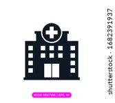hospital flat icon vector design | Shutterstock .eps vector #1682391937