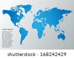 world map vector illustration | Shutterstock .eps vector #168242429