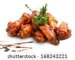 chicken wings with barbeque... | Shutterstock . vector #168243221