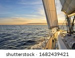 Sailboat sailing in the...