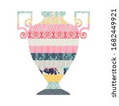 illustration with a vase....   Shutterstock .eps vector #1682449921