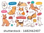 dog pose hand drawn doodle... | Shutterstock .eps vector #1682462407
