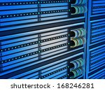Close-up of Modern Computer Servers in Data Center  - stock photo
