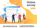 people answering online survey. ...
