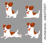 vector set of jack russell... | Shutterstock .eps vector #1682470357
