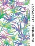 summer palm pattern... | Shutterstock .eps vector #1682493037