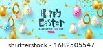 easter sale background with... | Shutterstock .eps vector #1682505547