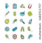 virus line and fill style icon... | Shutterstock .eps vector #1682511757