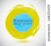 blue and yellow circle.... | Shutterstock .eps vector #168251429