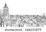 pedestrian street in the old... | Shutterstock .eps vector #168251879