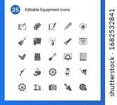 25 equipment filled icons set...   Shutterstock .eps vector #1682532841