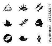 9 fish filled icons set... | Shutterstock .eps vector #1682532844