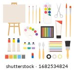 painter art tools. paint arts... | Shutterstock .eps vector #1682534824