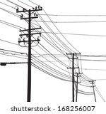 vector silhouette of telephone... | Shutterstock .eps vector #168256007