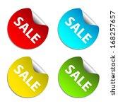 sale sticker. | Shutterstock .eps vector #168257657